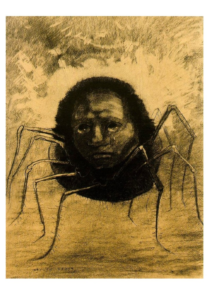 Odilon Redon - Crying Spider 1881