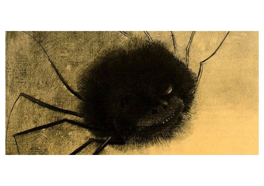 Odilon Redon - The Smiling Spider 1881