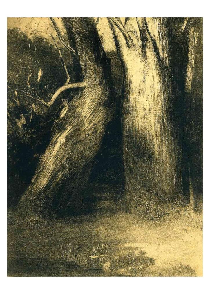 Odilon Redon - Two Trees 1875