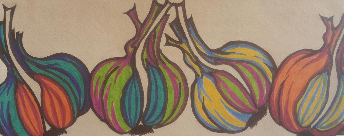 abstract garlic
