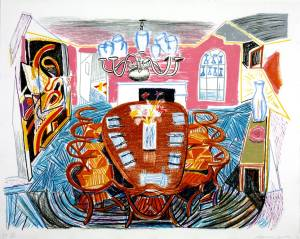 Tyler Dining Room 1984 by David Hockney