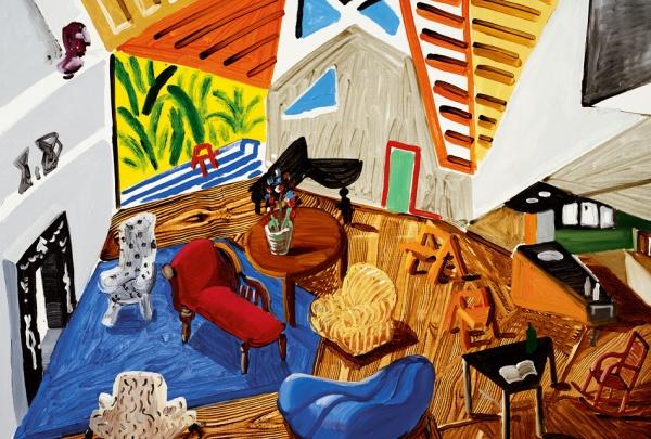 David Hockney 'small interior' 1988